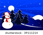 christmas background with... | Shutterstock .eps vector #39111214