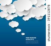 dark blue with cloud idea... | Shutterstock .eps vector #391112878