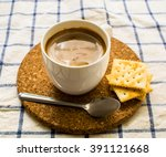 breakfast set coffee and... | Shutterstock . vector #391121668