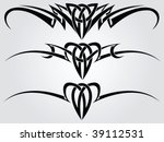 patterns of tribal tattoo for... | Shutterstock .eps vector #39112531