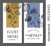 food menu design vegetable... | Shutterstock .eps vector #391131412