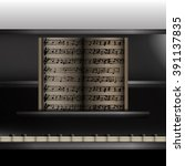 vector illustration of a piano... | Shutterstock .eps vector #391137835