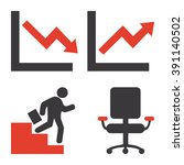 set of different business icons ... | Shutterstock .eps vector #391140502