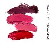 close up of lipstick stroke... | Shutterstock . vector #391144942