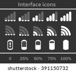 interface icons set. status... | Shutterstock .eps vector #391150732