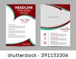 vector flyer template design.... | Shutterstock .eps vector #391153306