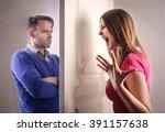 arguing couple | Shutterstock . vector #391157638