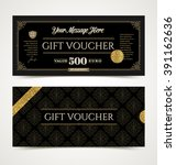 gift voucher template with... | Shutterstock .eps vector #391162636