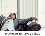 businessman having headache and ...   Shutterstock . vector #391184632