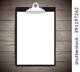 clipboard with paper vintage... | Shutterstock .eps vector #391197262