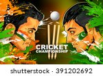 illustration of cricket player... | Shutterstock .eps vector #391202692