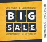 big sale banner. mechanical... | Shutterstock .eps vector #391214248