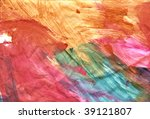 colourful paint frenzy of wide... | Shutterstock . vector #39121807
