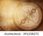 pirate and nautical theme... | Shutterstock . vector #391238272