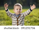 child in autumn colors | Shutterstock . vector #391251736