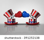 american election fight and... | Shutterstock . vector #391252138