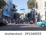 hollywood  california  ... | Shutterstock . vector #391260055