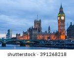 palace of westminster  big ben... | Shutterstock . vector #391268218