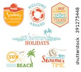 set of summer and vacation... | Shutterstock . vector #391275448