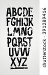 hand drawn grunge font.... | Shutterstock .eps vector #391289416