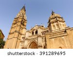 facade of the primate cathedral ... | Shutterstock . vector #391289695