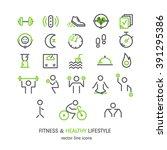 vector outline icons set  ... | Shutterstock .eps vector #391295386