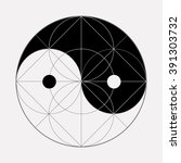 ying yang symbol of harmony and ... | Shutterstock .eps vector #391303732