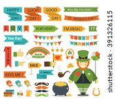 st.patrick day  icons flat... | Shutterstock .eps vector #391326115
