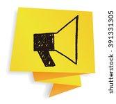 doodle megaphone | Shutterstock .eps vector #391331305