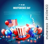 4th of july   independence day... | Shutterstock .eps vector #391336522