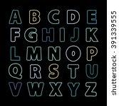 alphabet color line .alphabet... | Shutterstock .eps vector #391339555