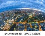 Fisheye View Of Melbourne Cbd...