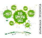 big spring sale badge  label ... | Shutterstock .eps vector #391343416