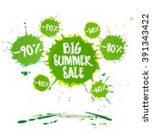 summer sale badge  label.... | Shutterstock .eps vector #391343422