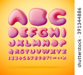 vector font made from balloons... | Shutterstock .eps vector #391344886
