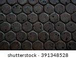 dark dirty road brick worm... | Shutterstock . vector #391348528