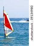 an image of a man windsurfing... | Shutterstock . vector #39134980