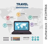 travel infographic design  | Shutterstock .eps vector #391349866