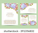 romantic invitation. wedding ... | Shutterstock . vector #391356832