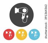 hair dryer icon | Shutterstock .eps vector #391364362