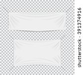 white textile banners with... | Shutterstock .eps vector #391374916