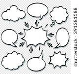 a set of comic bubbles speech... | Shutterstock .eps vector #391381588