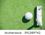 close up of a golf club or... | Shutterstock . vector #391389742