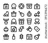christmas vector icons 5 | Shutterstock .eps vector #391396672