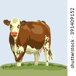 cow farm animals   Shutterstock .eps vector #391409152