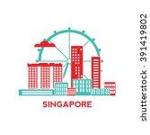 singapore city architecture...   Shutterstock .eps vector #391419802