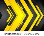 abstract orange black tech... | Shutterstock .eps vector #391432192