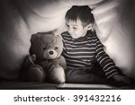 kid under the blanket playing... | Shutterstock . vector #391432216