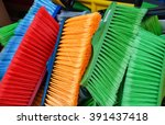 colorful brooms   Shutterstock . vector #391437418