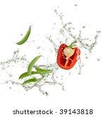 fresh red capsicum and peas... | Shutterstock . vector #39143818